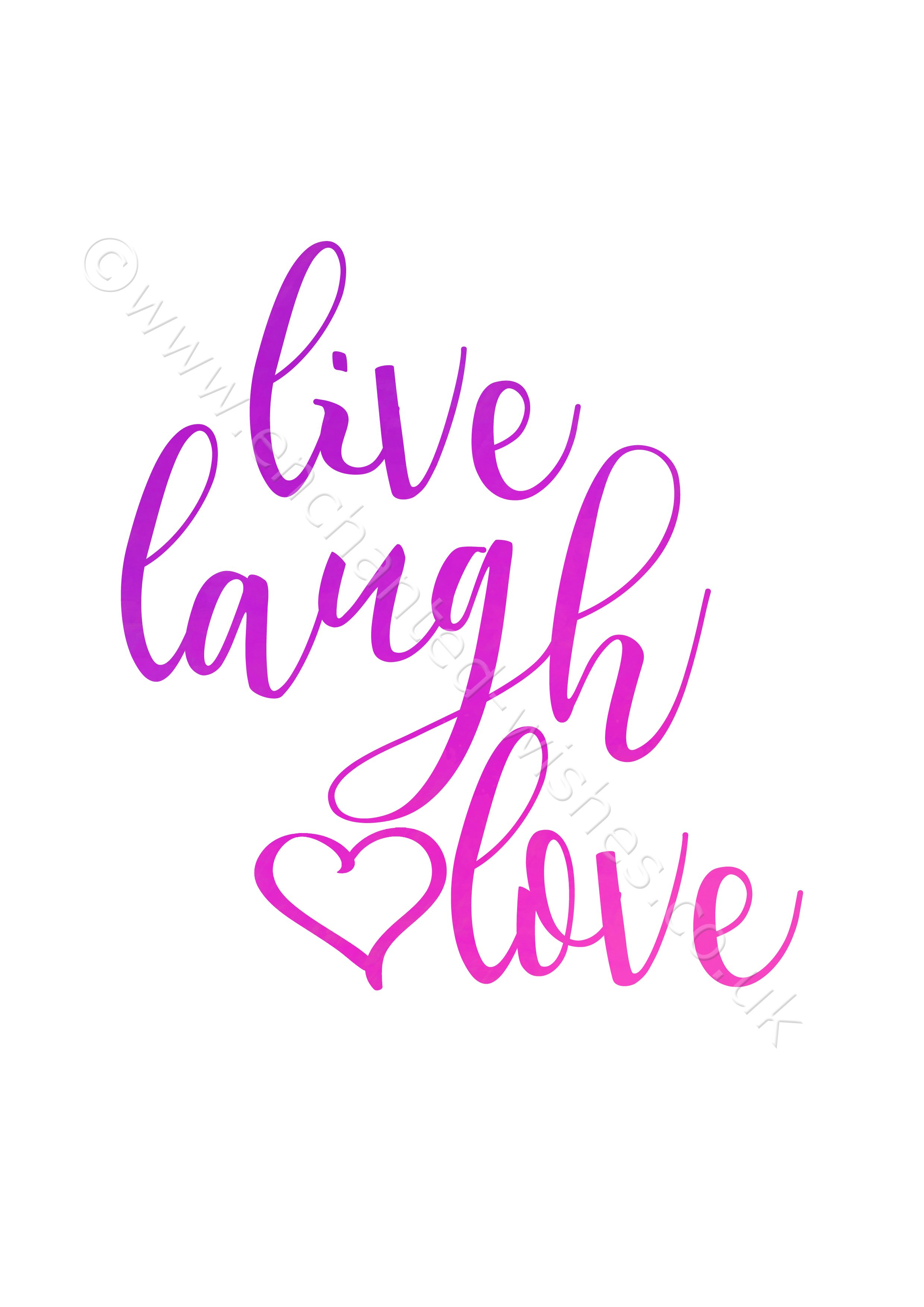 Live Laugh Love Quote Live Laugh Love Quote Typography Print  Personalised Prints And