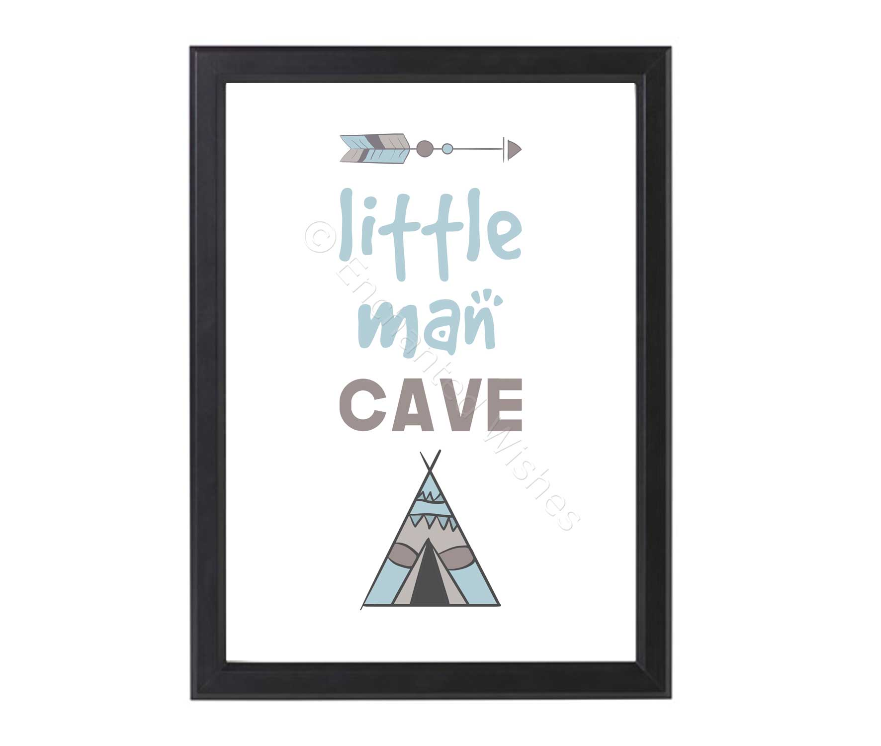 Man Cave Wall Art Uk : Little man cave print nursery wall art personalised