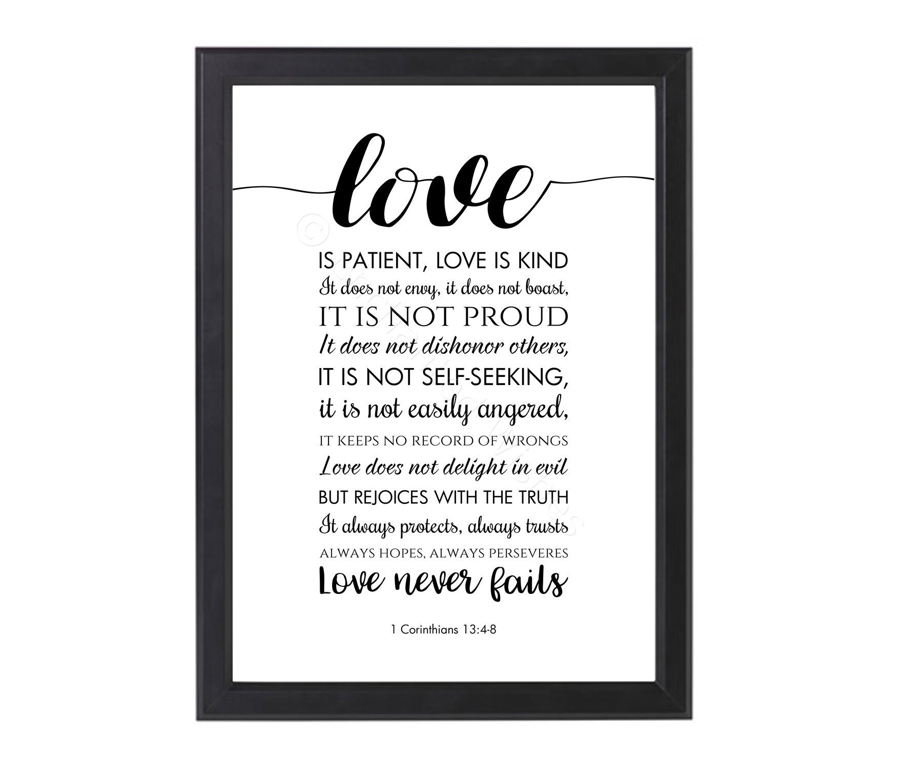Love Is Patient Quote Love Is Patient Love Is Kind Bible Verse Quote Print