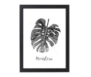 free_monstera_monochrome_print_2