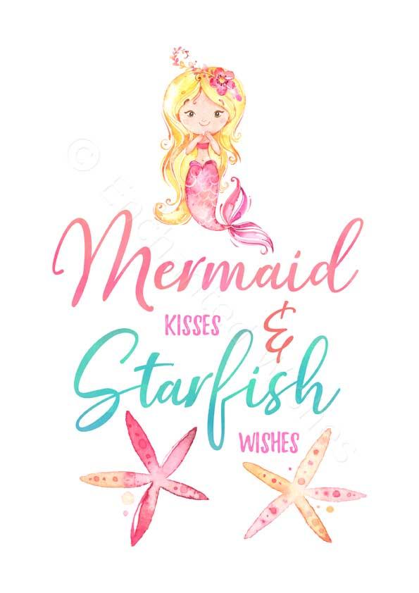 Mermaid Quote Prints Set of 3   Art prints   Nursery Wall ...