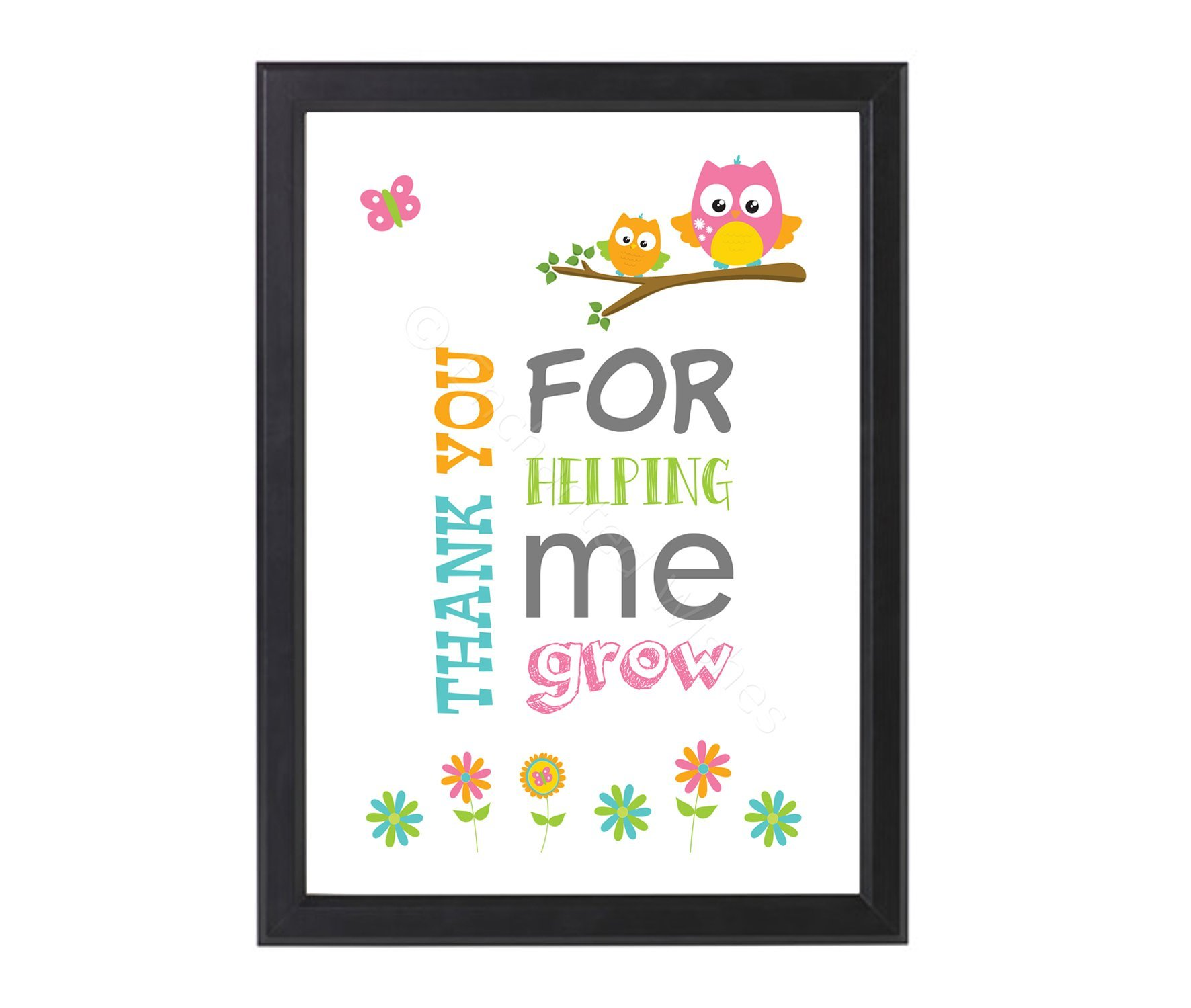 Thanks For Helping Me Grow Quotes: Thank You For Helping Me Grow Print