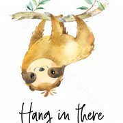 sloth_hanginthere