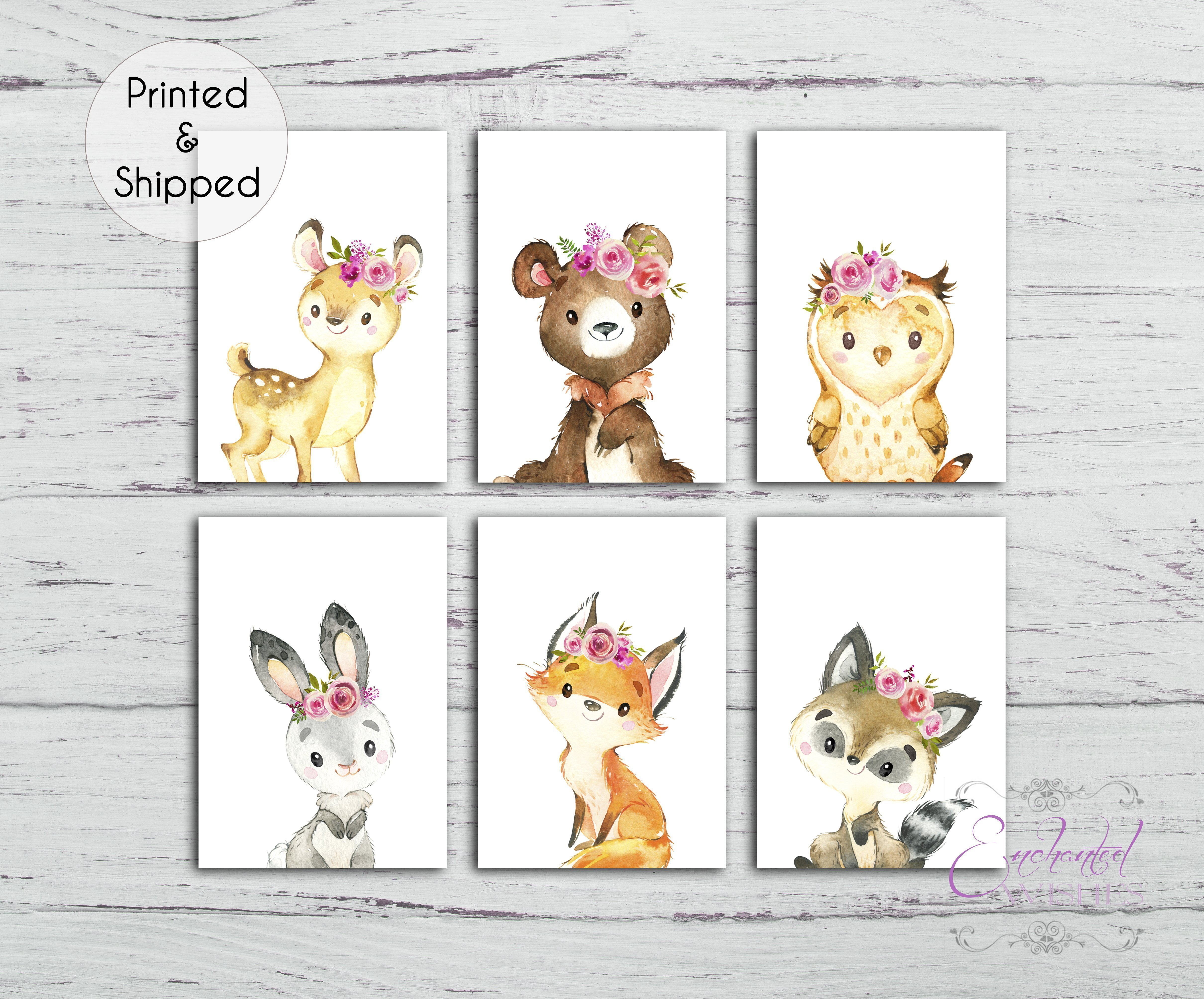 Woodland Animal Nursery Prints with Quotes A4 Prints Only