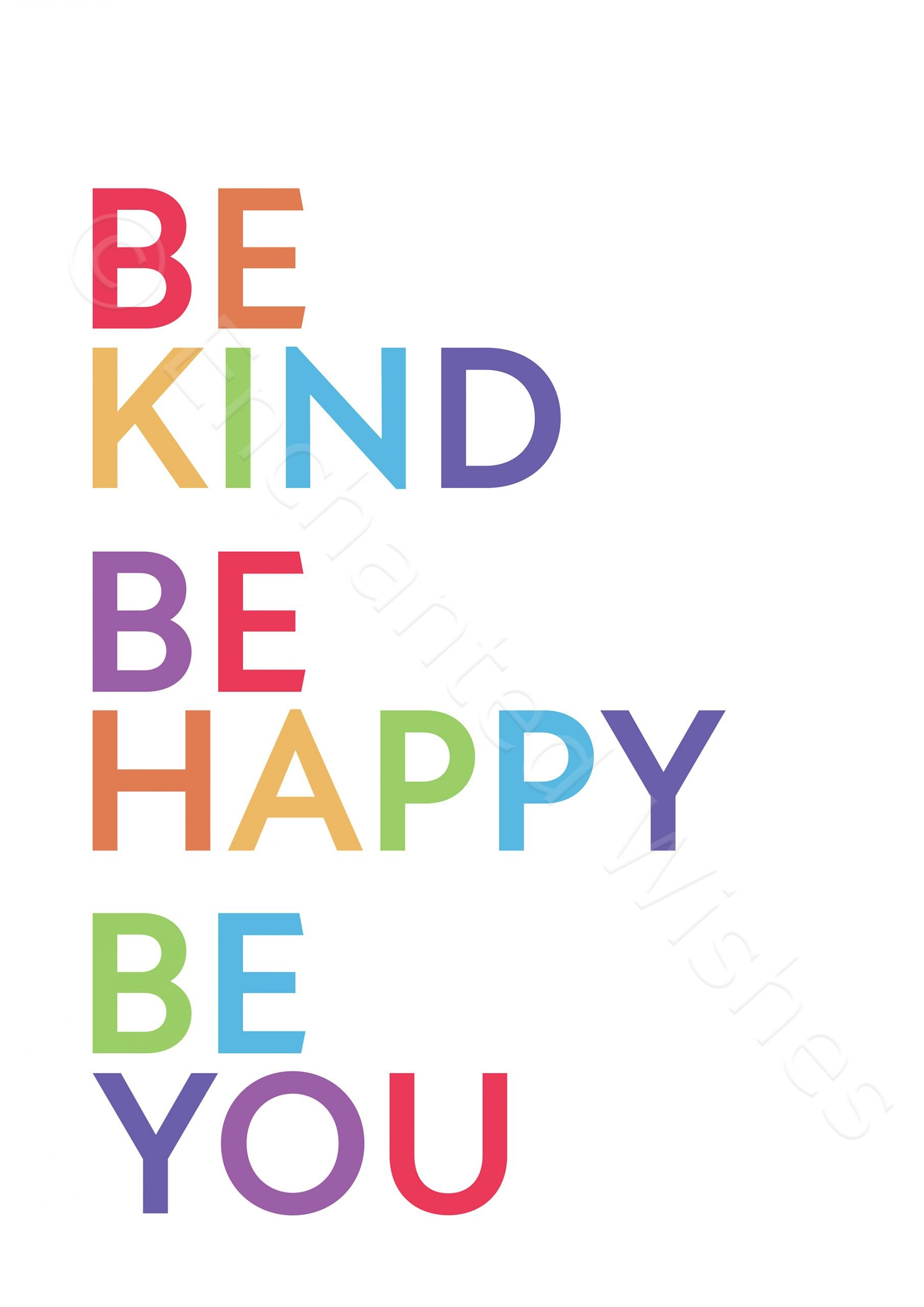 Be Kind Be Happy Rainbow Print | Art prints | Nursery Wall Art ...